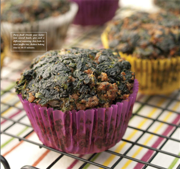 Meat Spinach Muffins - The Clothes Make The Girl dot Com