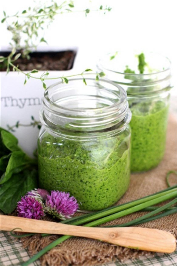 lemon thyme spinach pesto