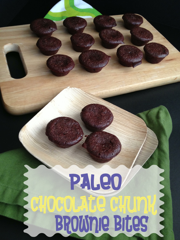 Paleo Chocolate Chunk Brownie Bites