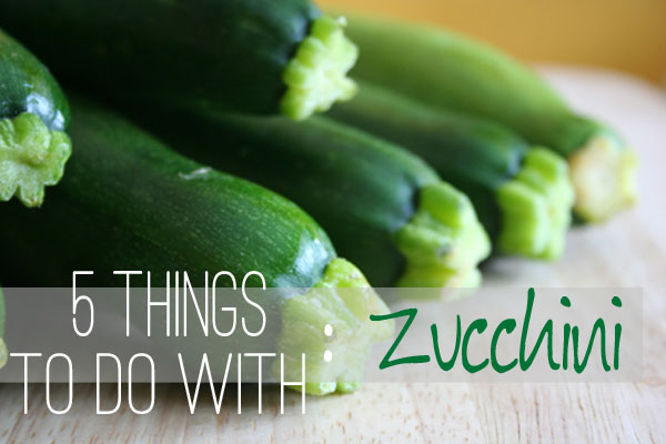5 Things To Do With Zucchini // Holly Would If She Could
