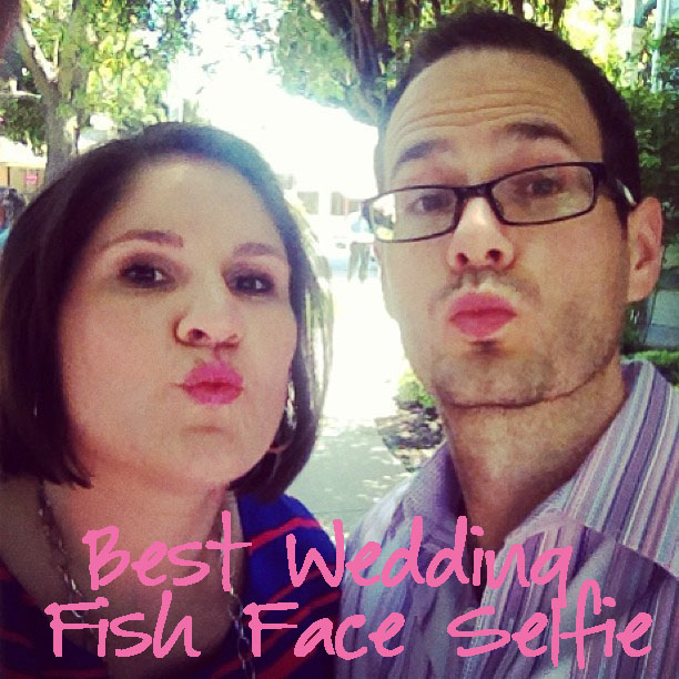 Best Wedding Fish Face Selfie